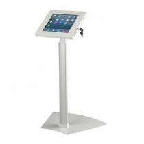 White Extednable Secure iPad Floor Stand