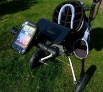phone in golf buggy case