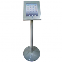 Silver round base iPad floor stand 1